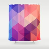 brand new Shower Curtains featuring Brand new day by marcegaral