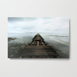 Faded planks Metal Print