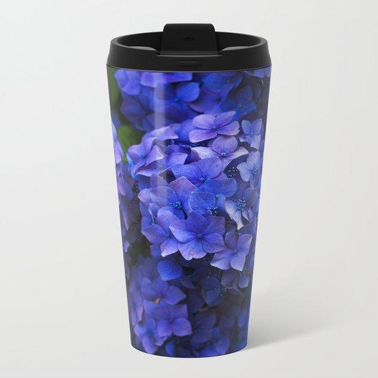 Hortensia Metal Travel Mug