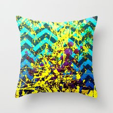 color Spatter set 3 Throw Pillow