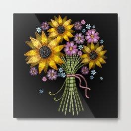 Sun Flower Patch Metal Print