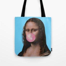 Mona Lisa (Leonardo da Vinci) with Bubblegum Tote Bag