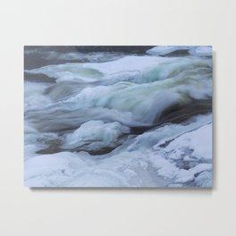 Storforsen, biggest Waterfall in the north of Sweden Metal Print
