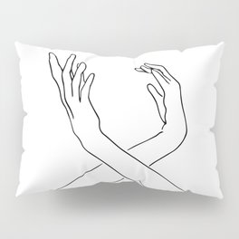 Dancing minimal line drawing Pillow Sham