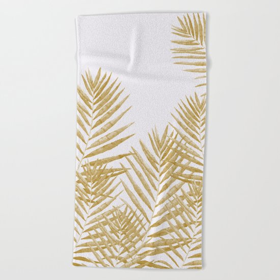 Fern Golden Beach Towel