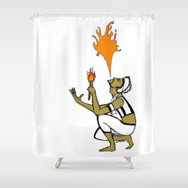 Indian Fire Shower Curtain