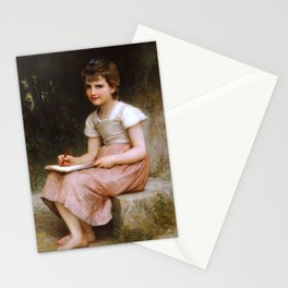 """William-Adolphe Bouguereau """"A Calling"""" Stationery Cards"""