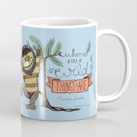 wild things Mugs featuring Wild Things by Sofia Verger