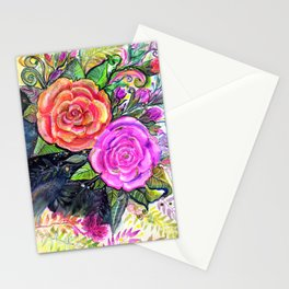painting roses makes me EUPHORIC! Stationery Cards