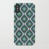kilim iPhone & iPod Cases featuring Pistachio Persian Kilim by Katayoon Photography