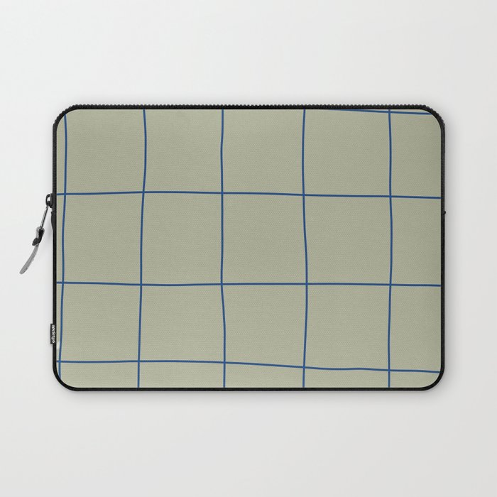 Simple Grid Green Blue Laptop Sleeve