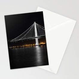 Bay Bridge at Night Stationery Cards