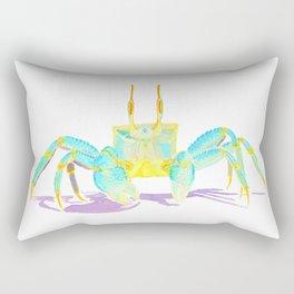 Turquoise Crab Rectangular Pillow