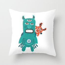 A Pair of Alien Visitors Throw Pillow
