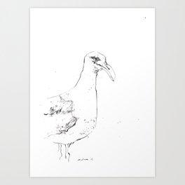 Sinister Seagull Art Print