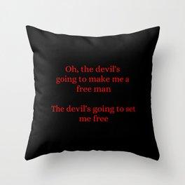 Devil's Free Man Throw Pillow