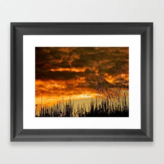 Goodbye Daylight Framed Art Print