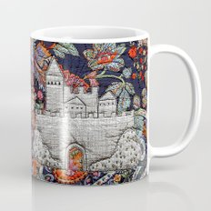 Grey castle on blue Mug