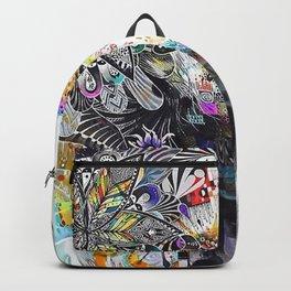 Banksy Urban Princess Graffiti Oil Painting  Backpack