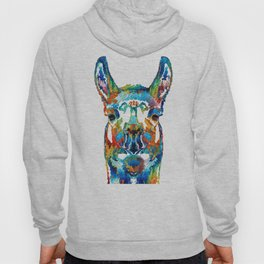 Colorful Llama Art - The Prince - By Sharon Cummings Hoody