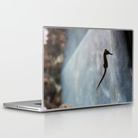 sea horse Laptop & iPad Skins featuring sea horse by Amanda Stockwell