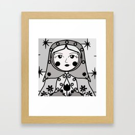 Matryoshka russian doll colorful illustration wall decor - Ira Framed Art Print
