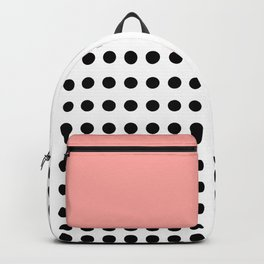 Polka Dot in monochrome with a touch of pink ;) Backpack