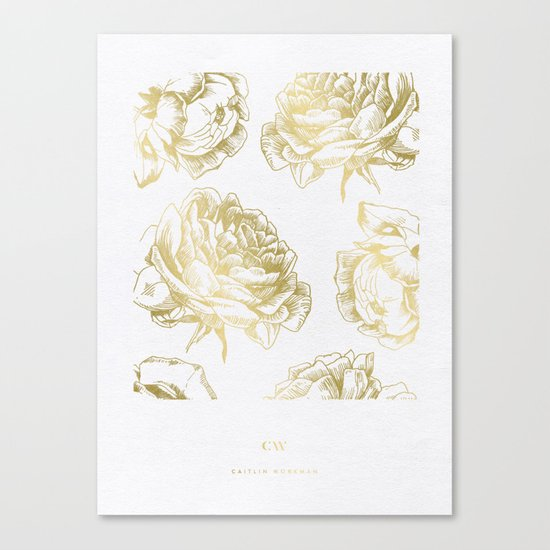 Gold Roses Canvas Print