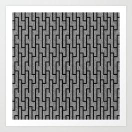 Black and white latticework pattern Art Print