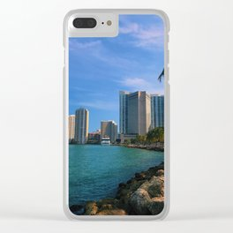 Brickell and Biscayne Bay Clear iPhone Case