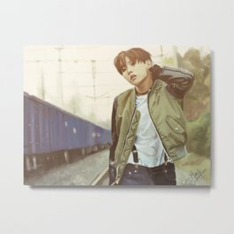 Run JHope Metal Print
