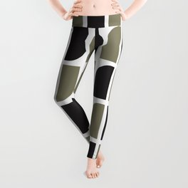 Geometric Pattern #41 (black gray) Leggings