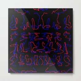 blue and red dance Metal Print