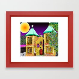 old mesilla church Framed Art Print