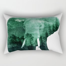 The elephant owns the forest Rectangular Pillow