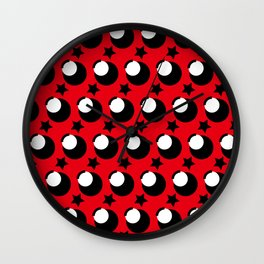 Goldden ratio dot pattern of Kim Jong-un Wall Clock