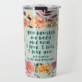 Pride and prejudice, you bewitch me florals Travel Mug