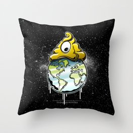 shit rules the world Throw Pillow