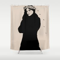 spanish Shower Curtains featuring SPANISH SAHARA by Stephan Parylak