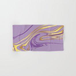 Violet Gold Marble Hand & Bath Towel