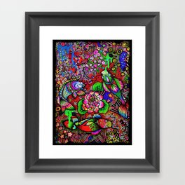 Krazy Koi Pond  Framed Art Print