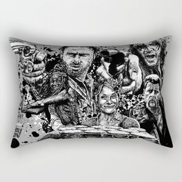 Walking Dead Squad, Rick, Daryl, Michonne, Carol & Abraham Rectangular Pillow