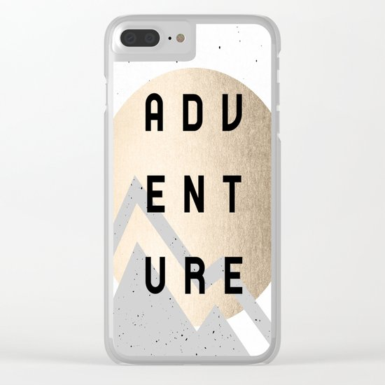 Adventure Golden Sunrise Clear iPhone Case