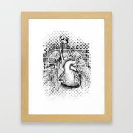 Map of the Human Heart Framed Art Print