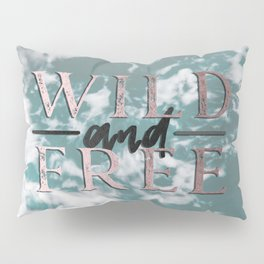 Wild and Free Waves in Rose Gold Pillow Sham