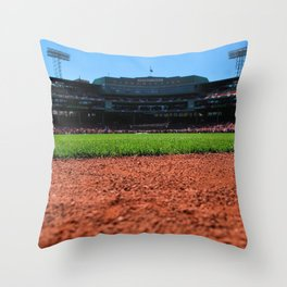From Centerfield - Boston Fenway Park, Red Sox Throw Pillow