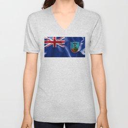 Montserrat Flag Unisex V-Neck
