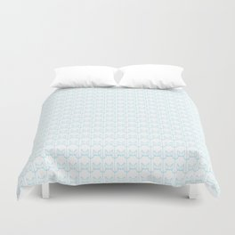 kitty pattern print in blue Duvet Cover