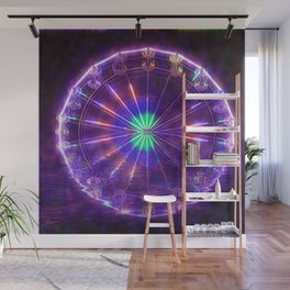 Ferris Wheel Reflection Wall Mural