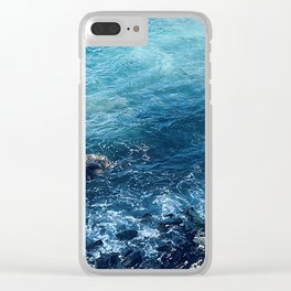 Tropical Paradise Pacific Ocean Cove Clear iPhone Case